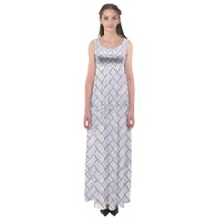 BRICK2 WHITE MARBLE & SAND (R) Empire Waist Maxi Dress
