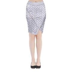 BRICK2 WHITE MARBLE & SAND (R) Midi Wrap Pencil Skirt