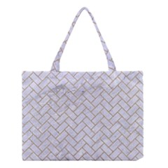 BRICK2 WHITE MARBLE & SAND (R) Medium Tote Bag
