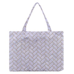 BRICK2 WHITE MARBLE & SAND (R) Zipper Medium Tote Bag