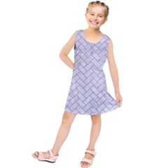 BRICK2 WHITE MARBLE & SAND (R) Kids  Tunic Dress