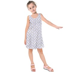 BRICK2 WHITE MARBLE & SAND (R) Kids  Sleeveless Dress
