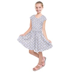 BRICK2 WHITE MARBLE & SAND (R) Kids  Short Sleeve Dress