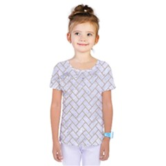 BRICK2 WHITE MARBLE & SAND (R) Kids  One Piece Tee