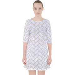 BRICK2 WHITE MARBLE & SAND (R) Pocket Dress