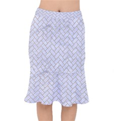 BRICK2 WHITE MARBLE & SAND (R) Mermaid Skirt