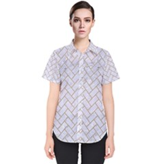 BRICK2 WHITE MARBLE & SAND (R) Women s Short Sleeve Shirt