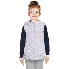 BRICK2 WHITE MARBLE & SAND (R) Kid s Hooded Puffer Vest