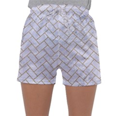 BRICK2 WHITE MARBLE & SAND (R) Sleepwear Shorts