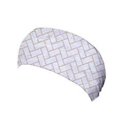 BRICK2 WHITE MARBLE & SAND (R) Yoga Headband