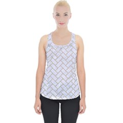 BRICK2 WHITE MARBLE & SAND (R) Piece Up Tank Top