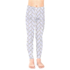BRICK2 WHITE MARBLE & SAND (R) Kids  Legging