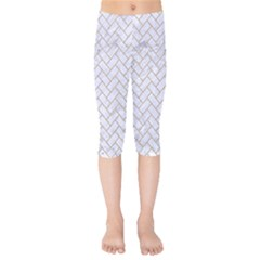 BRICK2 WHITE MARBLE & SAND (R) Kids  Capri Leggings