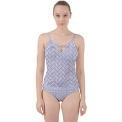 BRICK2 WHITE MARBLE & SAND (R) Cut Out Top Tankini Set