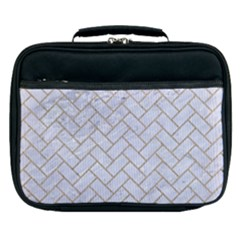 BRICK2 WHITE MARBLE & SAND (R) Lunch Bag