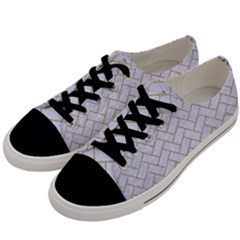 BRICK2 WHITE MARBLE & SAND (R) Men s Low Top Canvas Sneakers