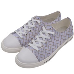 BRICK2 WHITE MARBLE & SAND (R) Women s Low Top Canvas Sneakers