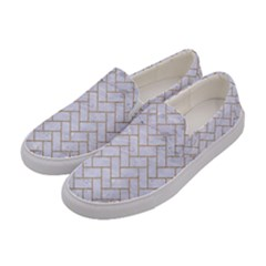 BRICK2 WHITE MARBLE & SAND (R) Women s Canvas Slip Ons