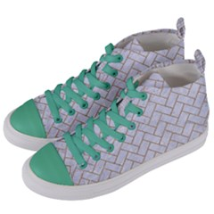 BRICK2 WHITE MARBLE & SAND (R) Women s Mid-Top Canvas Sneakers