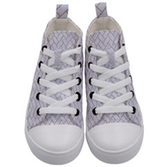 Brick2 White Marble & Sand (r) Kid s Mid Top Canvas Sneakers