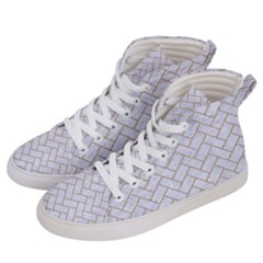 BRICK2 WHITE MARBLE & SAND (R) Men s Hi-Top Skate Sneakers