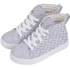 BRICK2 WHITE MARBLE & SAND (R) Kid s Hi-Top Skate Sneakers