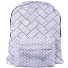 BRICK2 WHITE MARBLE & SAND (R) Giant Full Print Backpack