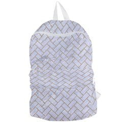 BRICK2 WHITE MARBLE & SAND (R) Foldable Lightweight Backpack