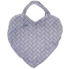BRICK2 WHITE MARBLE & SAND (R) Giant Heart Shaped Tote