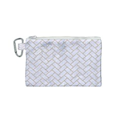 BRICK2 WHITE MARBLE & SAND (R) Canvas Cosmetic Bag (Small)