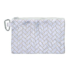 BRICK2 WHITE MARBLE & SAND (R) Canvas Cosmetic Bag (Large)