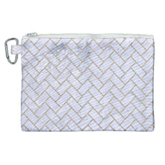 BRICK2 WHITE MARBLE & SAND (R) Canvas Cosmetic Bag (XL)