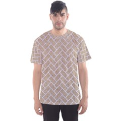 Brick2 White Marble & Sand Men s Sports Mesh Tee