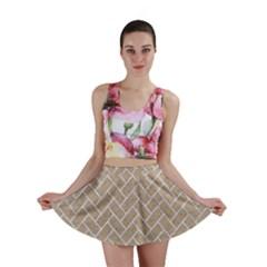 BRICK2 WHITE MARBLE & SAND Mini Skirt