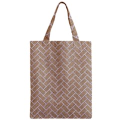 Brick2 White Marble & Sand Zipper Classic Tote Bag