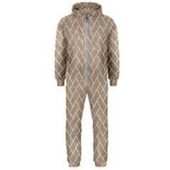 Brick2 White Marble & Sand Hooded Jumpsuit (men)