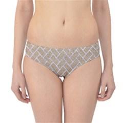 Brick2 White Marble & Sand Hipster Bikini Bottoms