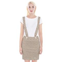 BRICK2 WHITE MARBLE & SAND Braces Suspender Skirt