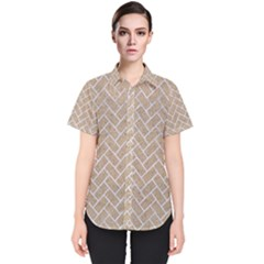 Brick2 White Marble & Sand Women s Short Sleeve Shirt
