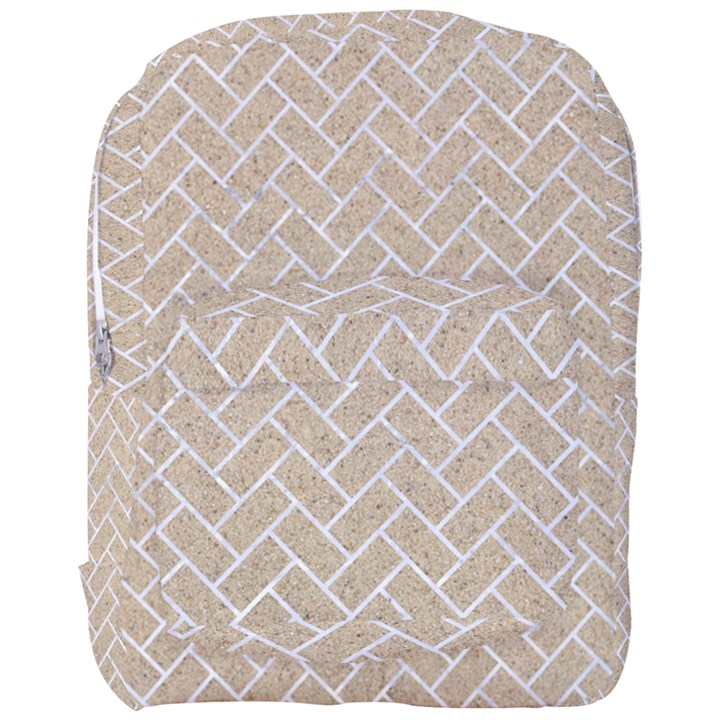 BRICK2 WHITE MARBLE & SAND Full Print Backpack