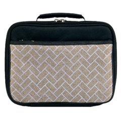 BRICK2 WHITE MARBLE & SAND Lunch Bag