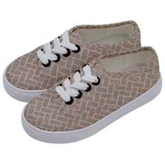 BRICK2 WHITE MARBLE & SAND Kids  Classic Low Top Sneakers