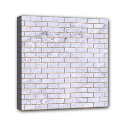 Brick1 White Marble & Sand (r) Canvas Travel Bag