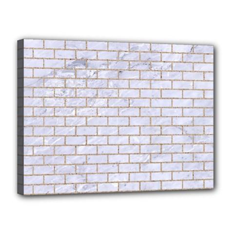 Brick1 White Marble & Sand (r) Canvas 16  X 12