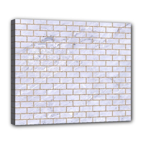 Brick1 White Marble & Sand (r) Deluxe Canvas 24  X 20   by trendistuff