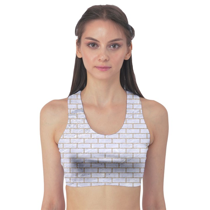 BRICK1 WHITE MARBLE & SAND (R) Sports Bra