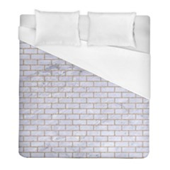 Brick1 White Marble & Sand (r) Duvet Cover (full/ Double Size)