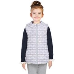 Brick1 White Marble & Sand (r) Kid s Hooded Puffer Vest