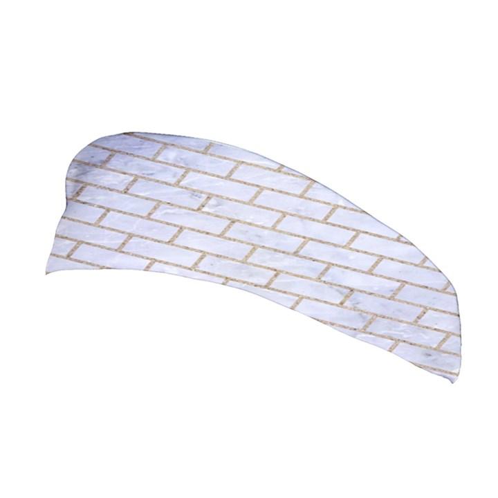 BRICK1 WHITE MARBLE & SAND (R) Stretchable Headband