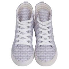 Brick1 White Marble & Sand (r) Men s Hi Top Skate Sneakers